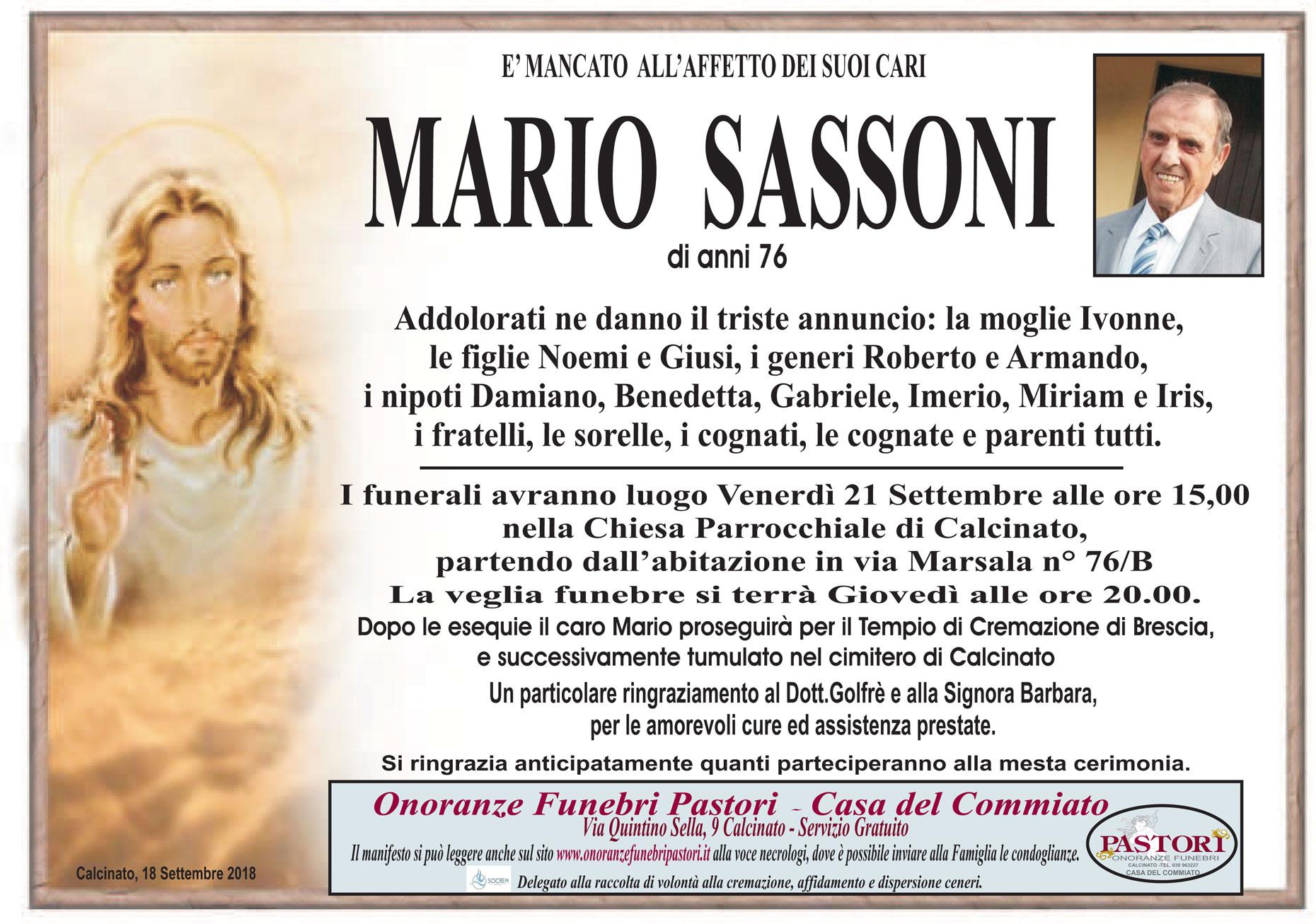 Sassoni Mario
